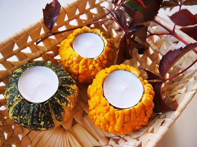 jak zrobić świecznik z dyni ozdobnej
