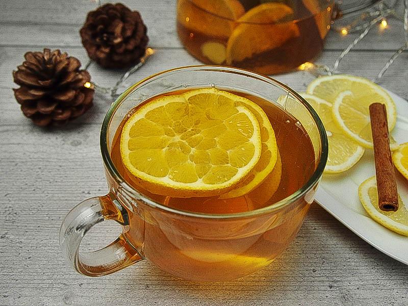 herbata z imbirem na chłodne wieczory