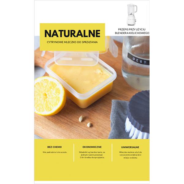 naturalne mleczko cytrynowe do sprzątania blender kielichowy