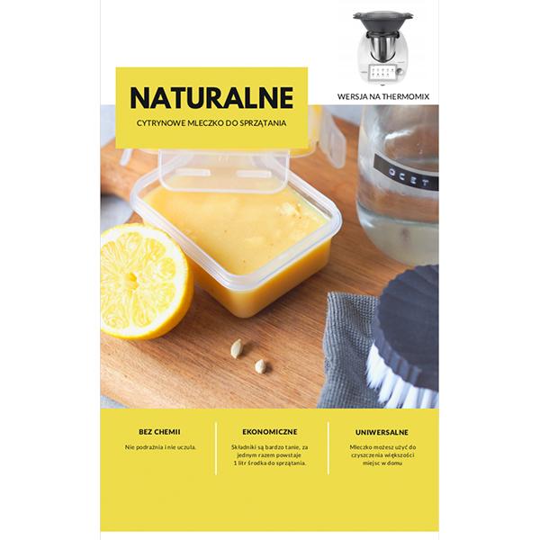 naturalne mleczko cytrynowe do sprzątania thermomix